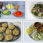 Μπιφτέκια λαχανικών με χούμους (vegan)