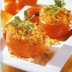 Ντομάτες γεμιστές με πλιγούρι και μυρωδικά